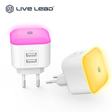 LED desk lamp dual usb home charger with 2usb 3.1a travel adapter for mobile phone