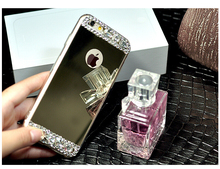 2015 Newest Soft TPU with Mirror Diamond Back Cover Case For Iphone5/6/6Plus/6s