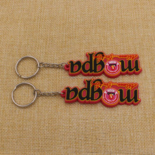 Custom high quality letters rubber key chain/low price keychain pvc for promotion gifts