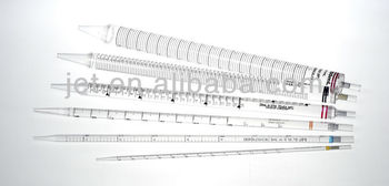 Disposable Plastic Serological Pipets in Plastic/Plastic Individually Package