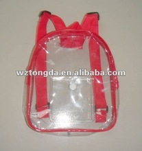 Clear Transparent pvc backpack bag for packaging
