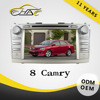 IN dash 8 inch double din car DVD GPS navigation built in radio for Toyota camry