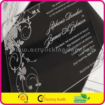 acrylic invitation card for wedding