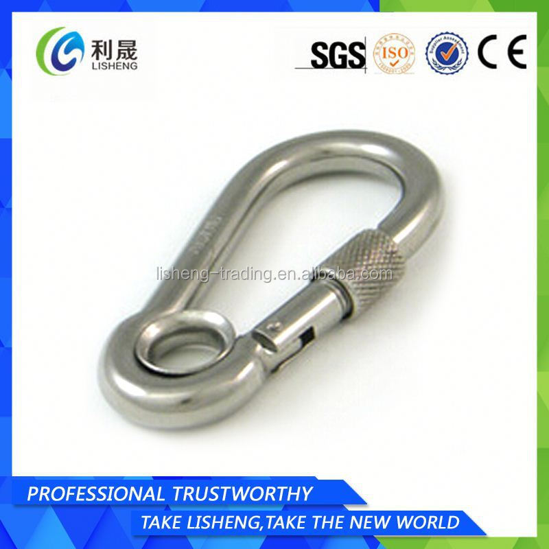 Stainless Steel D Ring Snap Hook