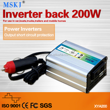 xya-200f power inverter small and rugged automatically detect low battery voltage shut down to preserve the battery for car boat