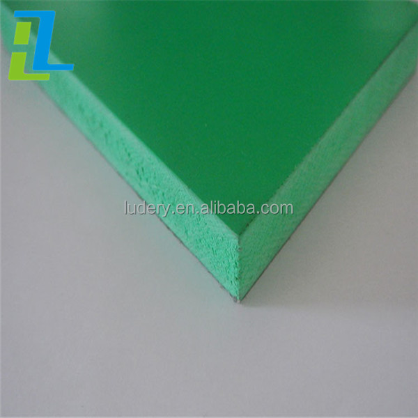 Green 2016 hot sale 1mm Rigid PVC Free Foam Sheets