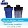 "Good Quality SAN Plastic blue water 1/2"" cartridge filter housing"