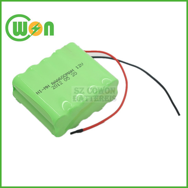 12V NIMH Rechargeable Battery Pack AAA 12V 600mAh NI MH Battery Pack