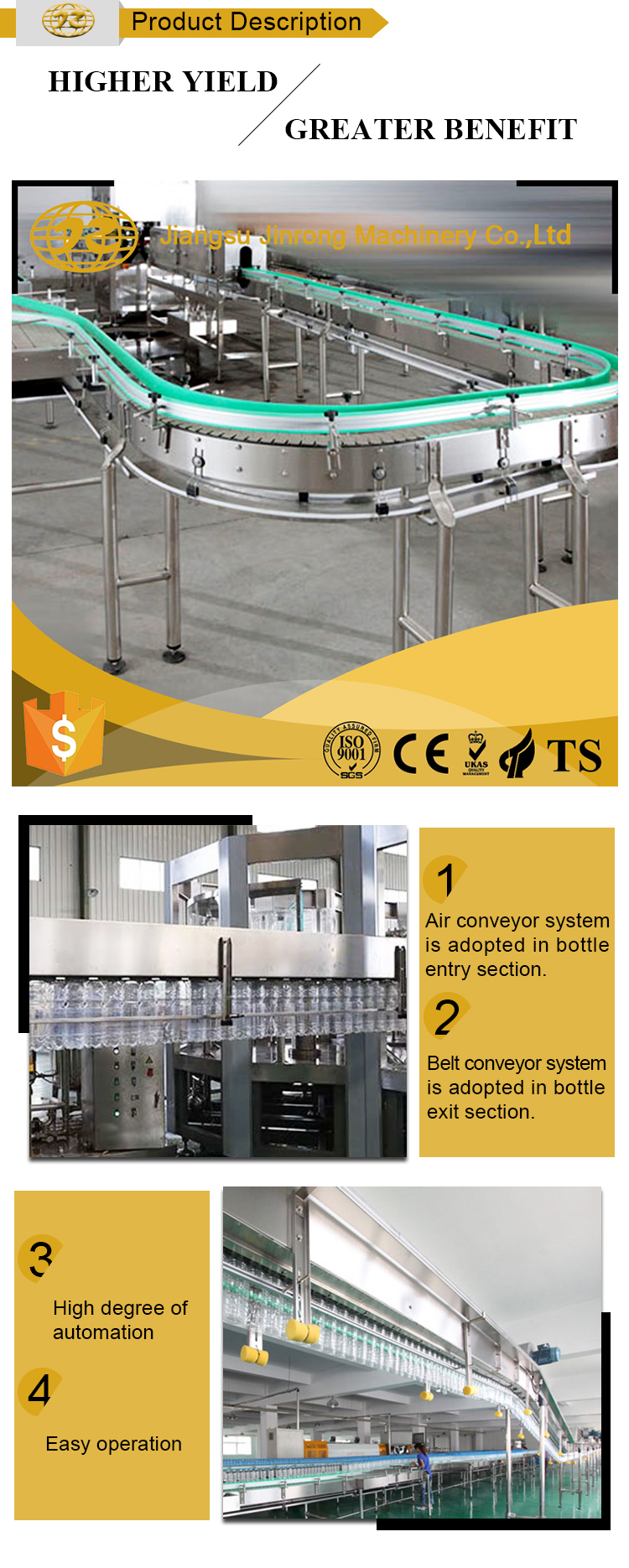 Horizontal slat bottle chain conveyor system