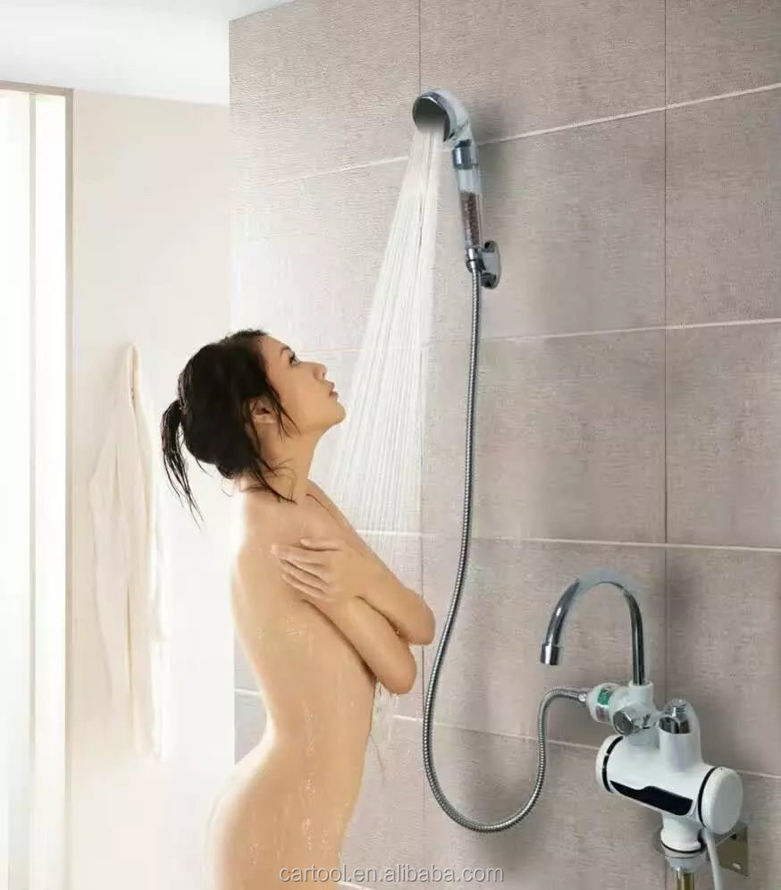 Electric Instant hot Water Heater Faucet Tap With Bath Shower 3000W