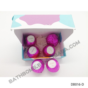 6 pcs Best Gift Set Spa Organic wholesale private label natural colorful vegan bath bombs dye set