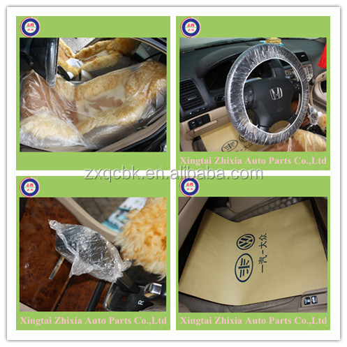 Reasonable cost full set seat cover /universal car seat cover/disposable steering wheel cover