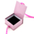 Luxulry carboard ring jewelry packaging box with ribbon bow