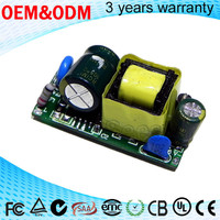 open frame internal led bulb driver 6w led driver 300mA constant current LED driver with PFC 0.9 for indoor lamp