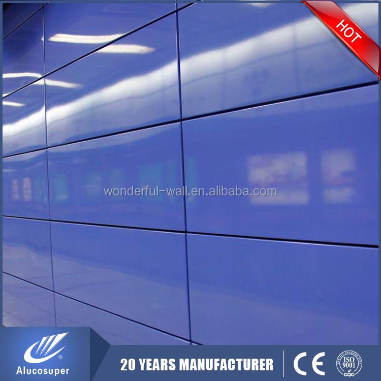New arrival CE certificate color coated aluminum composite panels curtain wall