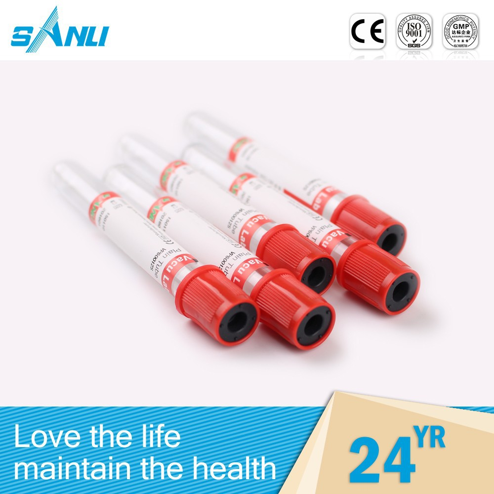 Automatic one-off gel&clot blood collection tube , double test tube