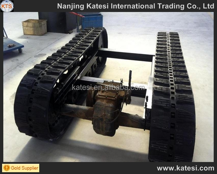 2017 customed ex200 cheap excavator parts rubber track steel track crawler undercarriage for sale
