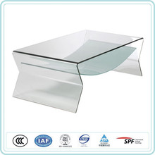 Quality assurance 12mm curved hot bending glass for glass TV table