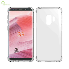 New clear airbag shockproof TPU phone Case for Samsung Galaxy S9 flexible shock-absorbing silicone case