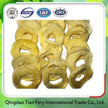 Healthy fruit snack dried apple ring