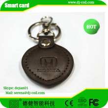 125Khz Leather RFID keytag for access control