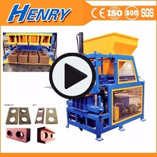 Siemens motor Kenya small soil earth clay mud cement interlocking brick making machine price in india