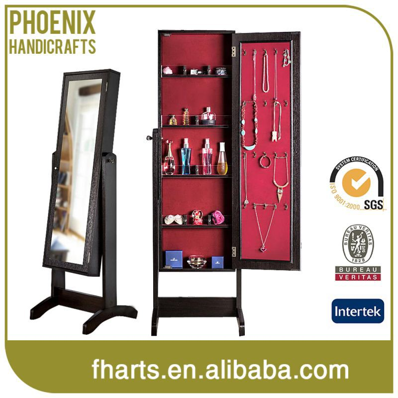 Wholesale Custom Shape Printed Mirrors Jewelry Glass Display Cabinet