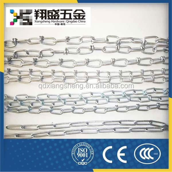 Din 5686a/C Galvanized Short Steel Link Chain