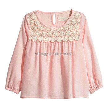 Soft weave Blouse with lace with back open button