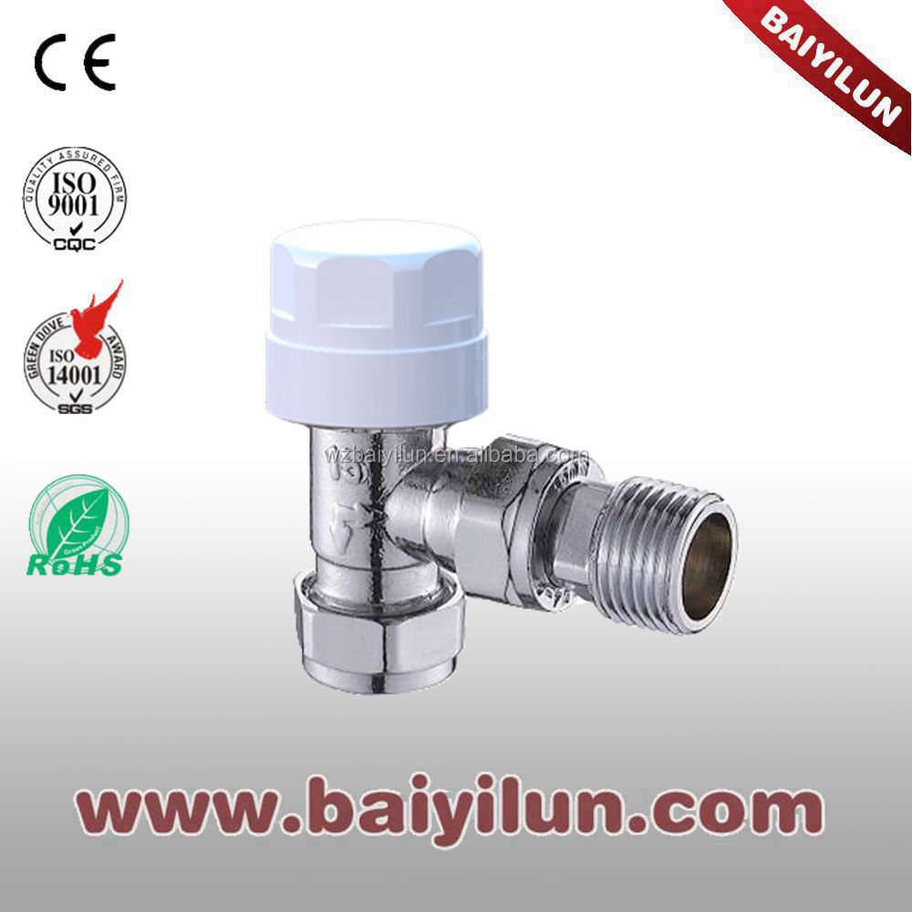 DN15 angled Red Copper Pipe thermostaticcontroller valve/EN215 TRV valve