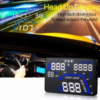 Q7 5.5 inch GPS Car HUD Head Up Display Windscreen Projector Vehicle Speed Limiter Warning Fuel Consumption Car Alarm System
