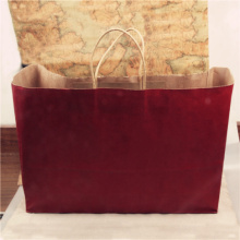 Classical satin handle gift paper bag