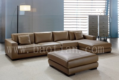 living room furniture leather sofa leads the furniture trend #0742