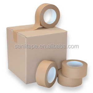Good price OEM partner since 1997 free sample Carton sealing kraft paper tape,kraft tape,bleached kraft paper
