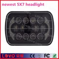 "high performance 105W osram led 5x7"" led headlight for car truck off road light"