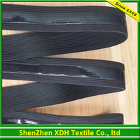 Eco-friendly lack silicone non-slip elastic band with low price manufacturer