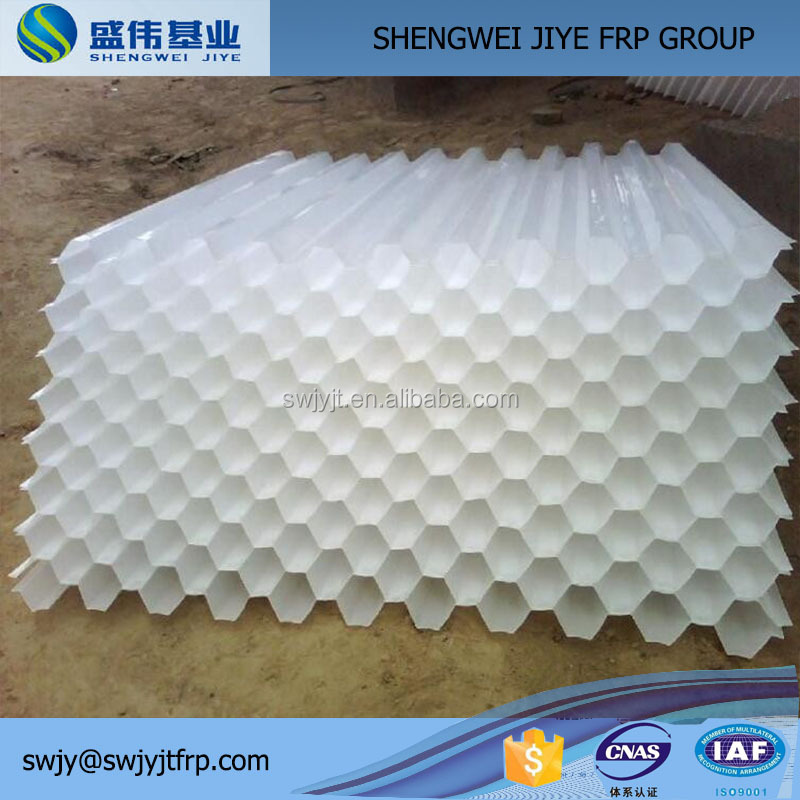 PVC Plastic hexagon honeycomb/s wave/double inclined type cooling tower fill packs