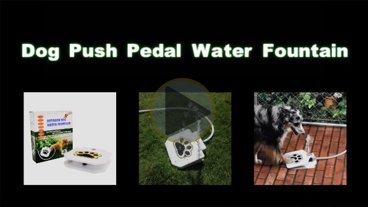 Outdoor automatic Pet dog Water Fountain Flesh Water Step Spray Puppy Dog Cat Pet Paw Water Drinking Fountain pet Supplies