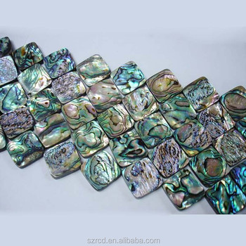 gemstone abalone shell square mother of pearl