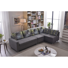 L shape modern wooden sofa cum bed folding designs with fabric cover