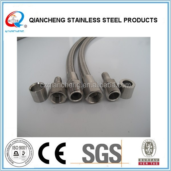 High temperature flexible pipe stainless steel braided hose