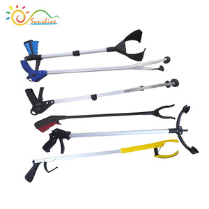 Handle grabber rubbish trash picker, claw grabber reaching tool, kitchen litter extend reacher tool