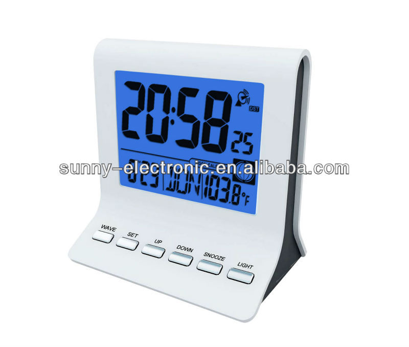GP3192C Compact Alarm / Snooze Radio Controlled WIth DCF Table Clocks