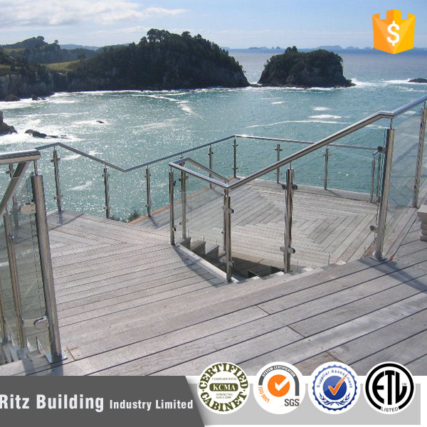 balcony tempered glass baluster railing stainless steel cheap deck railing