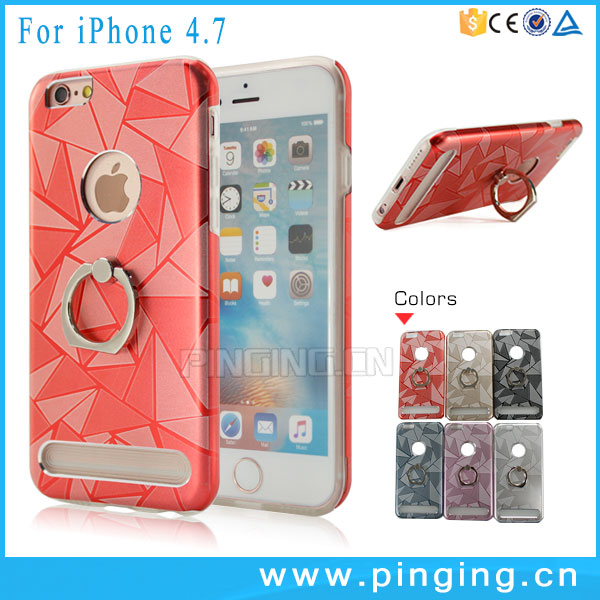Alibaba express China finger ring holder case for iphone 6s hard metal phone case + noctilucent tpu