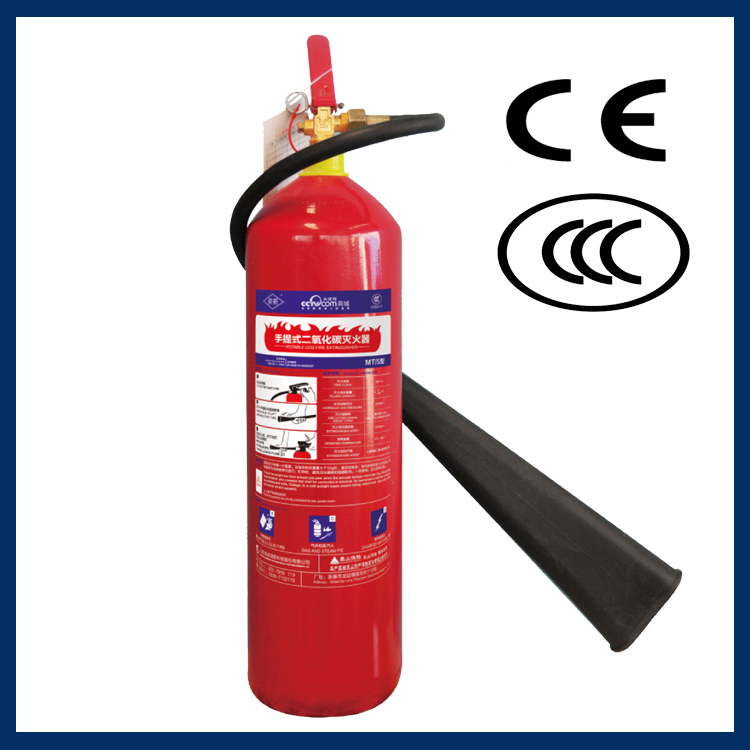 PED approvel Convex 5kg Alloy Steel CO2 Fire Extinguisher