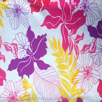Printed Polyester and Spandex Plain Cloth Knitting Fabric used for swimwear and so on