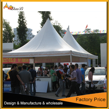 6x6m Outodor aluminum frame pagoda tent with flooring for sales