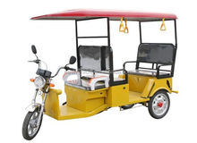 Three wheel vehicle electric tricycle with roof for passenger