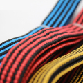 Stripe Bungee Cord Strong High Elastic with Metal Hooks +Plastic Anti-wear